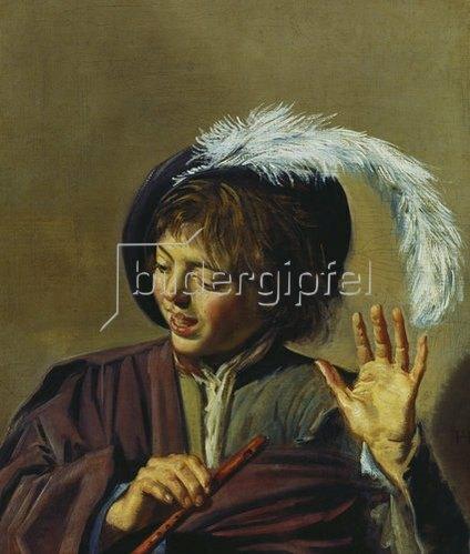 Frans Hals: Singender Knabe mit Flöte. Um 1623/25