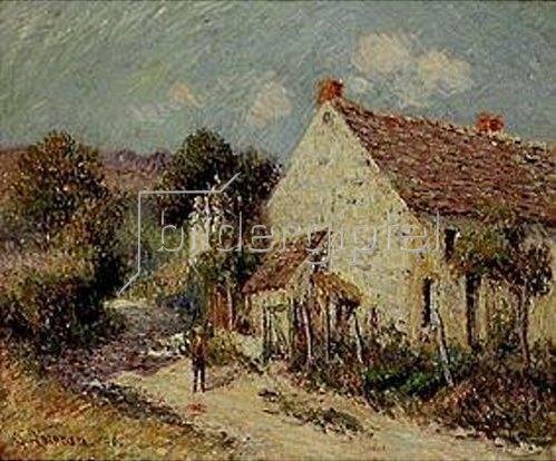 Gustave Loiseau: Landschaft in Seine et Oise. 1908.