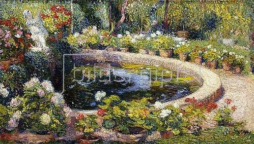Henri Martin: Brunnen im Blumengarten, Marquayrol. 1919