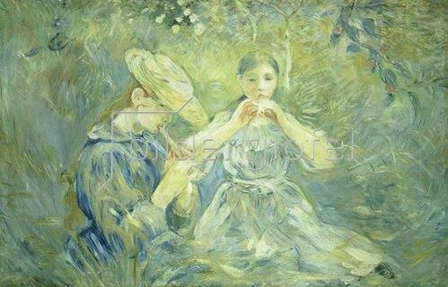 Berthe Morisot: Das Flötenkonzert im Garten. 1890