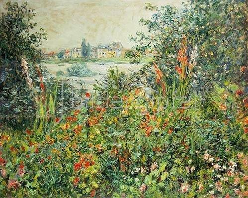 Claude Monet: Sommerblüten bei Vetheuil. 1880.