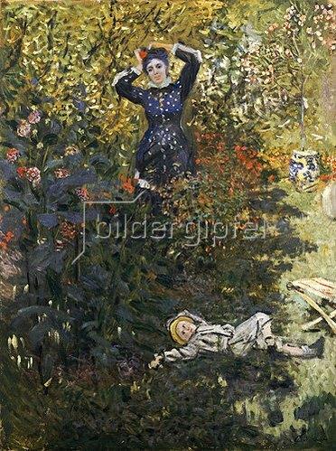 Claude Monet: Camille und Jean Monet im Garten. 1873