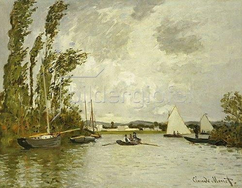 Claude Monet: Auf einem Seitenarm der Seine bei Argenteuil.