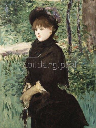 Edouard Manet: Beim Spaziergang. Um 1880