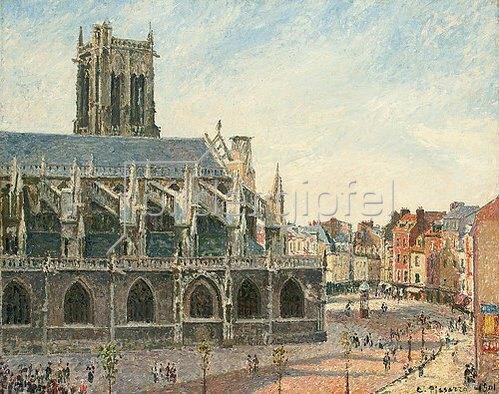 Camille Pissarro: Die Kirche St. Jacques in Dieppe am Morgen. 1901