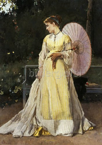 Alfred Stevens: Auf dem Lande (Dame mit Sonnenschirm).