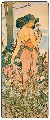Alfons Mucha: Die Nelke. 1898.