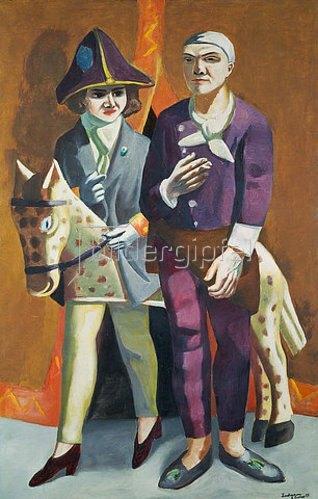 Max Beckmann: Doppelbildnis Karneval. 1925.