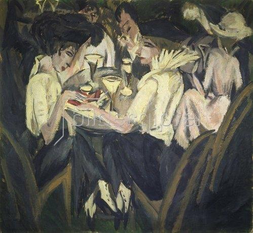 Ernst Ludwig Kirchner: Im Cafégarten. 1914.