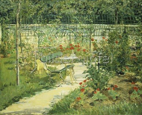 Edouard Manet: Bank im Blumengarten.