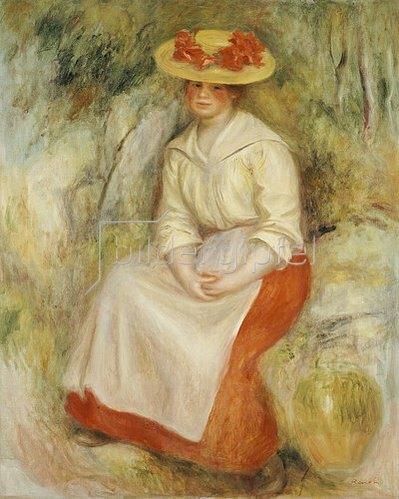Auguste Renoir: Gabrielle mit einem Strohhut. 1900