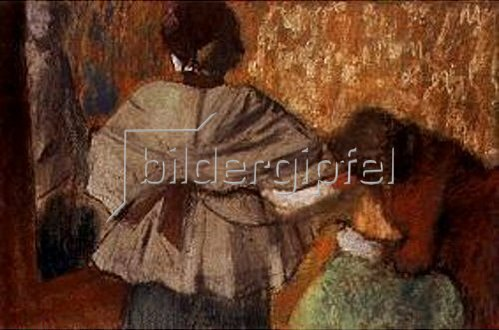 Edgar Degas: Bei der Modistin.