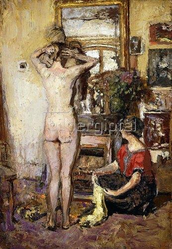 Edouard Vuillard: Frauenakt vor Spiegel (Nu dans un Interieur). 1923