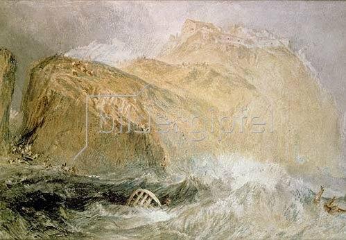 Joseph Mallord William Turner: Das Tintagel Castle, Cornwall.