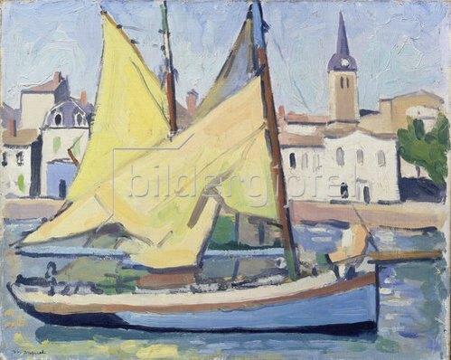 Albert Marquet: Fischerboot mit Blick auf La Chaume. 1921