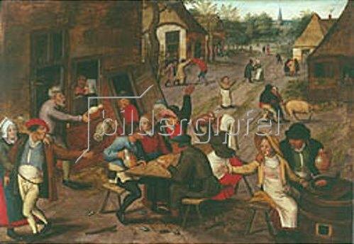 Pieter Brueghel d.J.: Eine Bauernhochzeit.