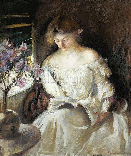 Edmund Charles Tarbell: Lesende junge Frau. 1902