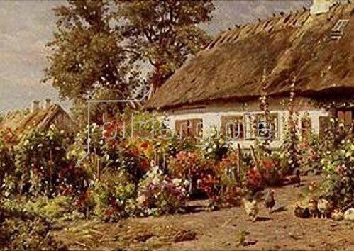 Peder Moensted: Bauerngarten. 1910(?).