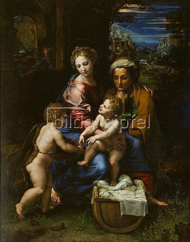 Raffael (Raffaello Sanzio): Die heilige Familie (La Perla).