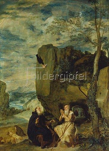 Diego Rodriguez de Velazquez: Die Geschichte des hl.Abtes Antonius und hl.Eremiten Paulus. 1640(?).