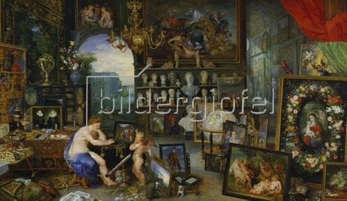 Jan Brueghel d.Ä.: Allegorie des Sehens. (Ausgeführt mit Peter Paul Rubens). 1617
