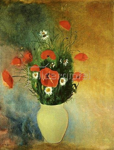 Odilon Redon: Vase mit Mohnblumen und Margueriten.
