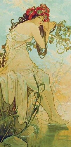 Alfons Mucha: Jahreszeiten: Sommer. 1896.