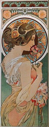 Alfons Mucha: Schlüsselblume. 1899.