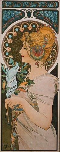 Alfons Mucha: Die Feder. 1899