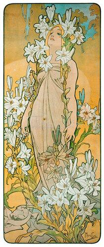 Alfons Mucha: Die Lilie. 1898.