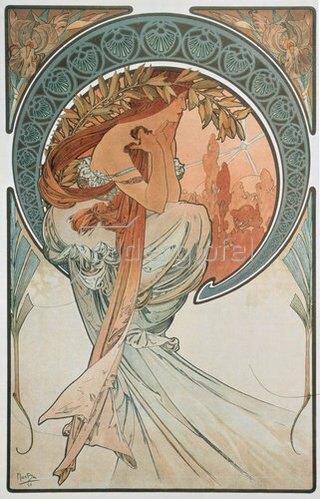 Alfons Mucha: Vier Künste: Die Poesie. 1898