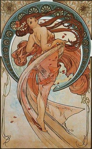 Alfons Mucha: Vier Künste: Der Tanz. 1898.