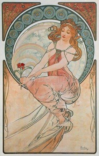 Alfons Mucha: Vier Künste: Die Malerei. 1898