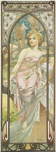Alfons Mucha: Tageszeiten: Das Erwachen des Morgens. 1899