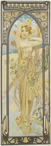 Alfons Mucha: Tageszeiten: Der Tagesschein. 1899