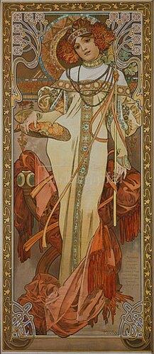 Alfons Mucha: Jahreszeiten: Der Herbst. 1900.