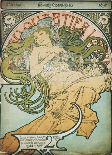 Alfons Mucha: Umschlag für Au Quartier Latin Sonder- nummer 1897.
