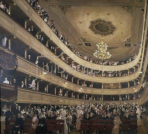Gustav Klimt: Innenansicht des alten Burgtheaters. 1887/88.