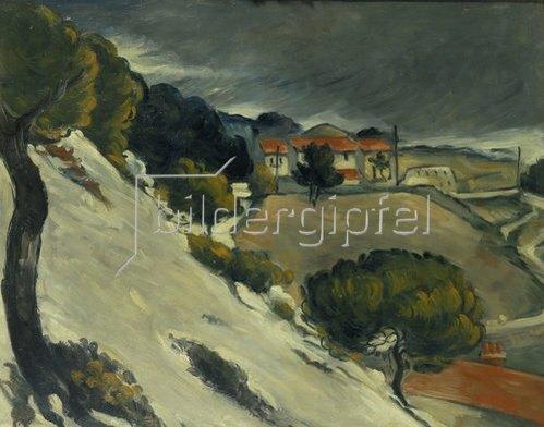 Paul Cézanne: Erster Schnee bei l'Estaque. 1870.