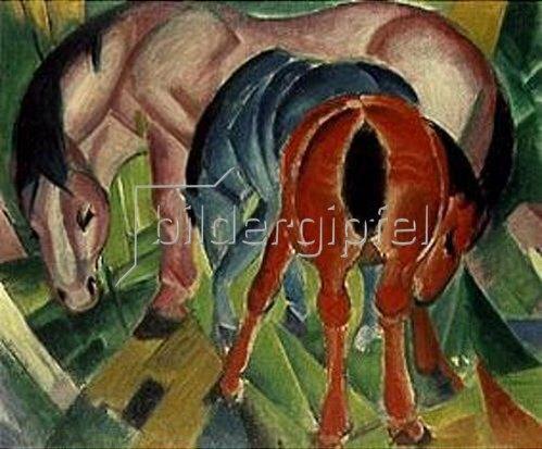 Franz Marc: Stute mit Fohlen. 1912.