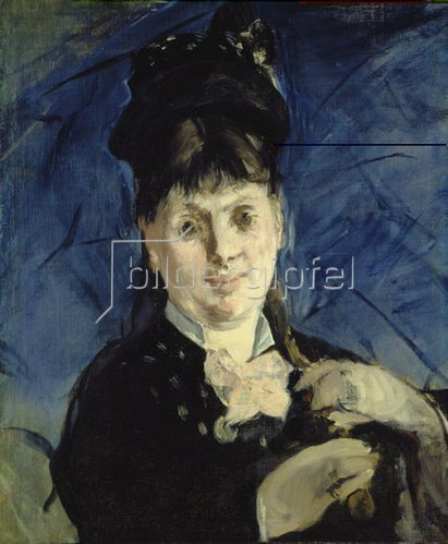 Edouard Manet: Frau mit Regenschirm. Um 1875
