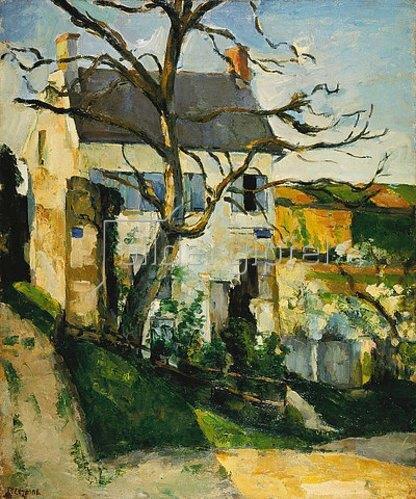 Paul Cézanne: Kahler Baum und Haus. 1873/1874.
