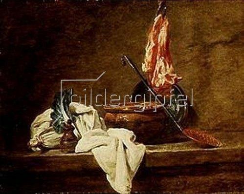 Jean-Baptiste Siméon Chardin: Stilleben mit irdener Schüssel.