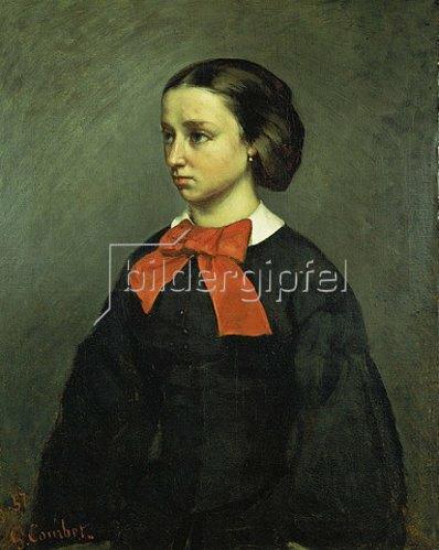 Gustave Courbet: Portrait der Mademoiselle Jacquet. 1857.