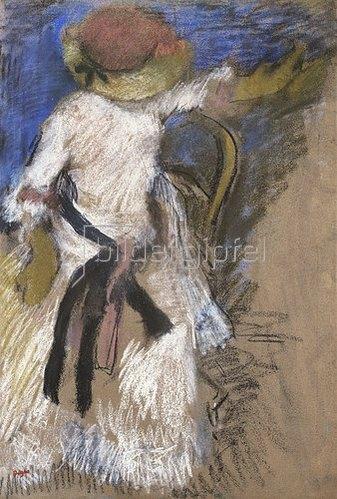 Edgar Degas: Sitzende Dame in weißem Kleid 1888-92