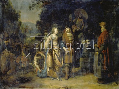 Gerbrand van den Eeckhout: Isaak und Rebecca am Brunnen Cahai-Roi.