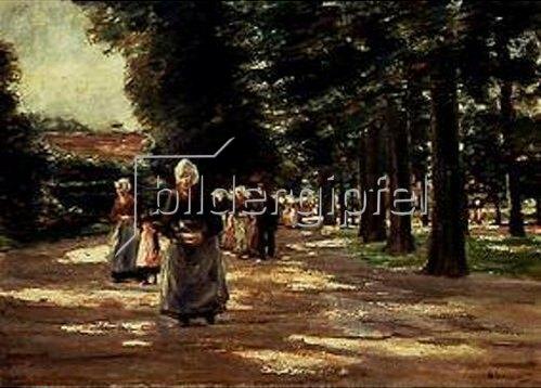 Max Liebermann: Kirchgang in Laaren. 1899.