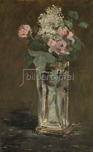 Edouard Manet: Blumen in einer Kristallvase. Um 1882.