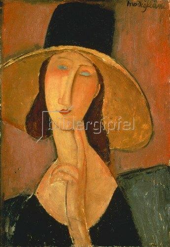 Amadeo Modigliani: Jeanne Hébuterne mit großem Hut. 1917