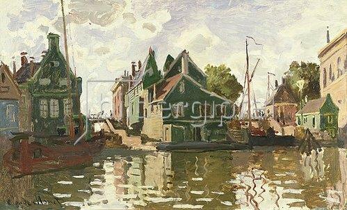 Claude Monet: Kanal in Zaandam. 1871.